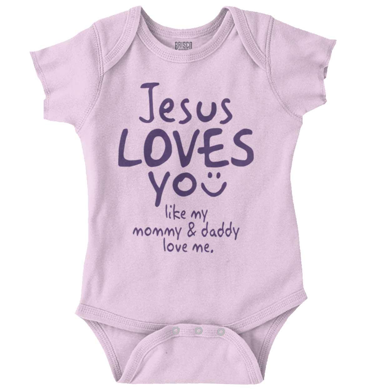 Jesus Loves You Romper Bodysuit