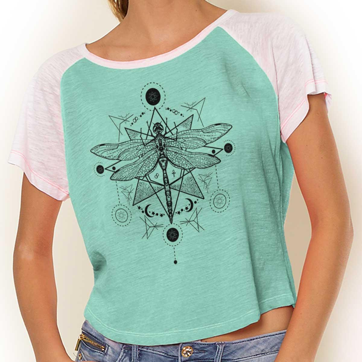 Dragonfly Sun Spiritual Animal Mystical Celestial Meaning Racerback Tank Top