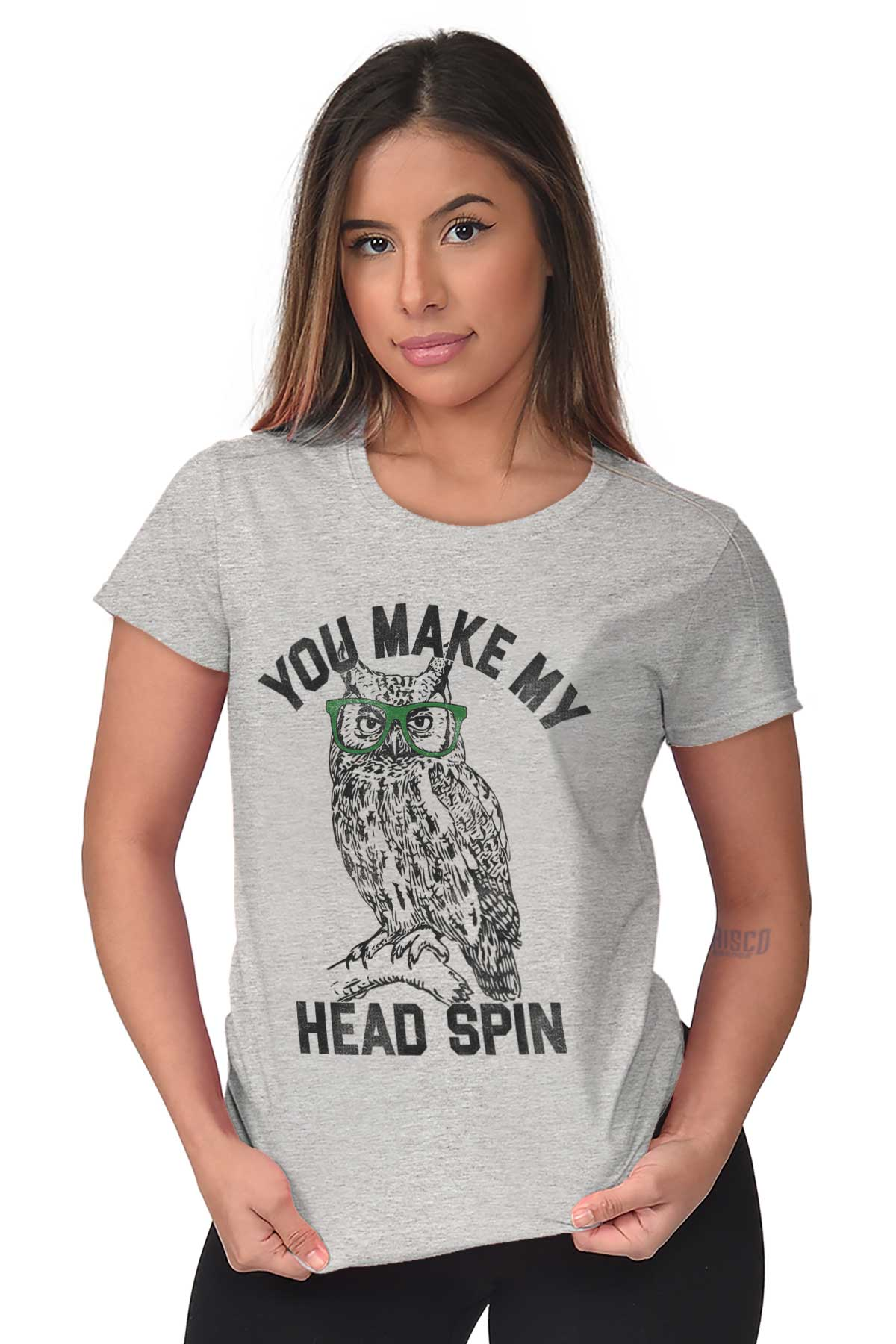 You Make My Head Spin Funny Hipster Owl Gift Tee Shirts Tshirts For Women
