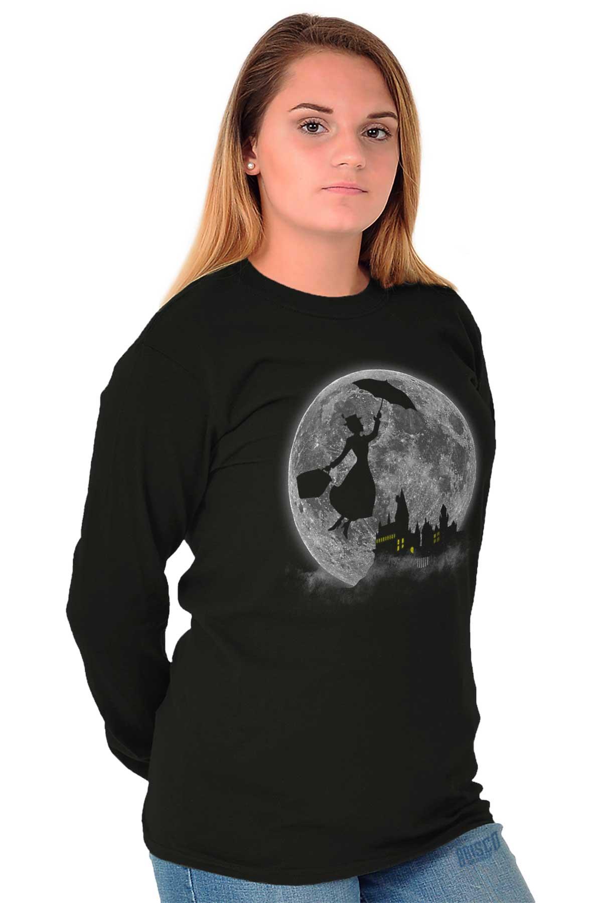 18aa6767d Details about Mary Poppin Walt Disney Funny Shirt Cute Hogwart Long Sleeve  Tee
