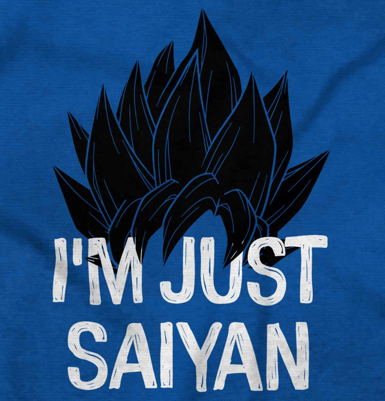 Just Saiyan Cute Goku Anime TV Show Gift Idea Sleeveless T Shirts Tees Tshirts