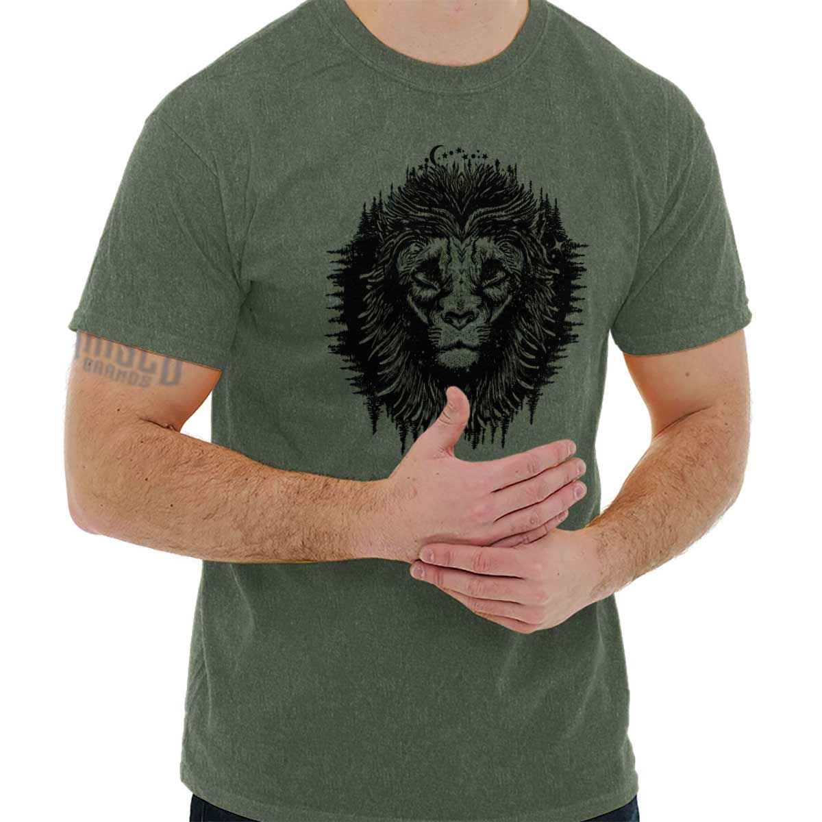 Spirit Lions Mane Symbolic Spiritual Animal Crewneck Sweat Shirts Sweatshirts