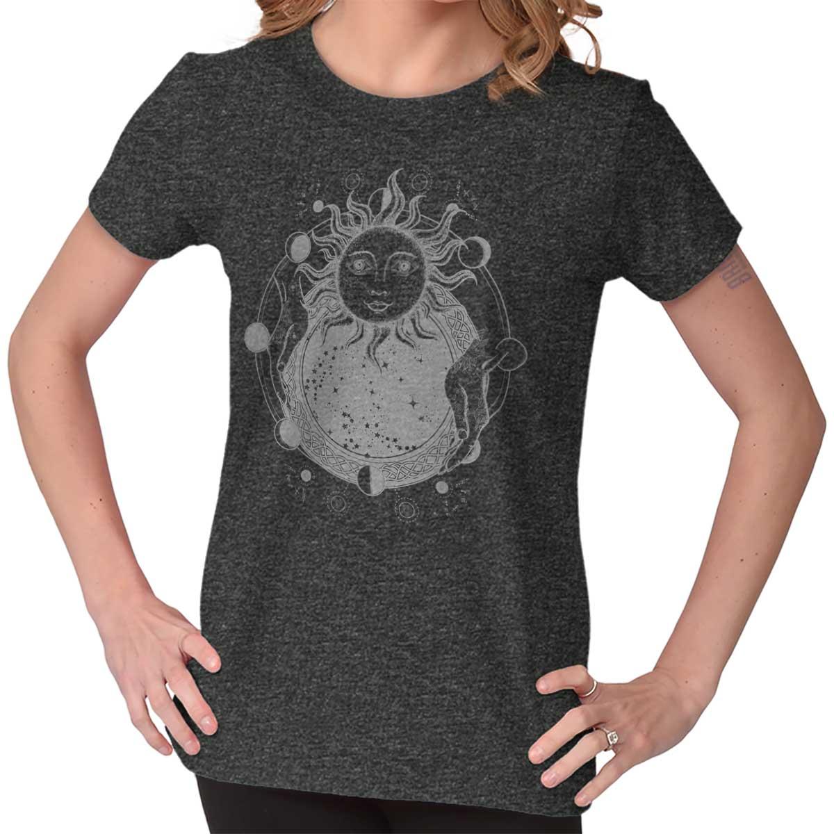 Cosmos Astronaut Mystic  Weird Alchemy Spiritual Stars Crop Top tees Shirt T