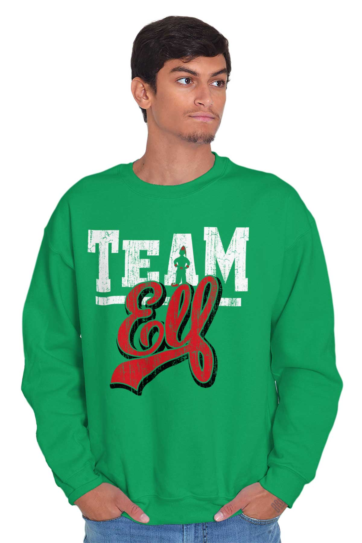 33164de874 Details about Team Elf Santa Claus Christmas Shirt Holiday Gifts Santa Cool  Pullover Sweatshir