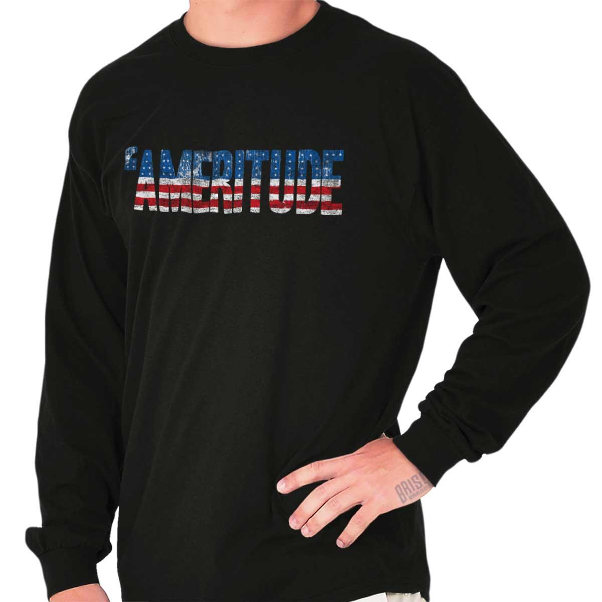 American Attitude Ameritude United States USA Patriotic Youth Tee Shirt T