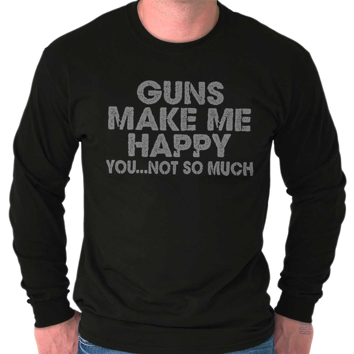 Gun Make Happy USA ShirtAmerican Gift 2nd Amendment Funny Zip Hoodie