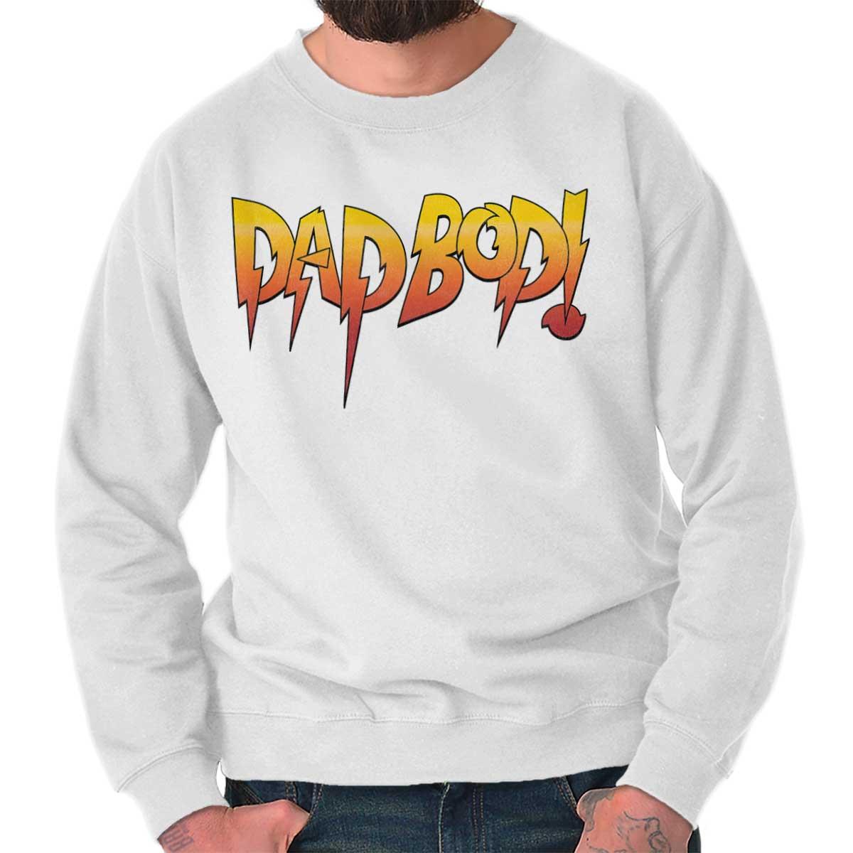 a5f0a037b Dad Bod Joke Rowdy Wrestling Fathers Day Gift Idea WWE Crewneck Sweatshirt