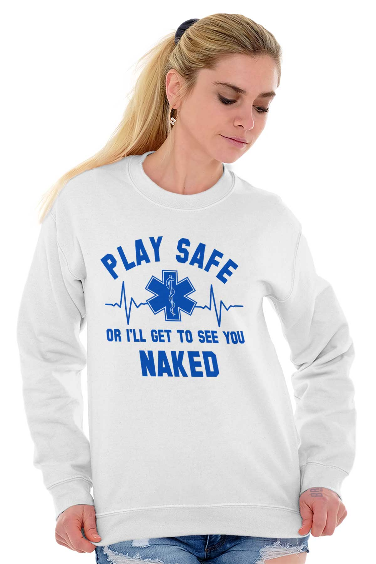 Amazon.com: EMT EMS T Shirt Play Safe Or Ill Get To See
