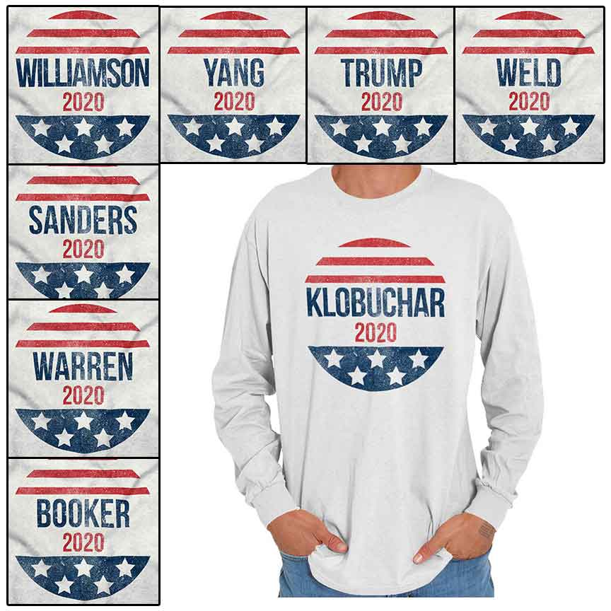 Donald Trump President 2020 Campaign Long Sleeve T-Shirt Elections