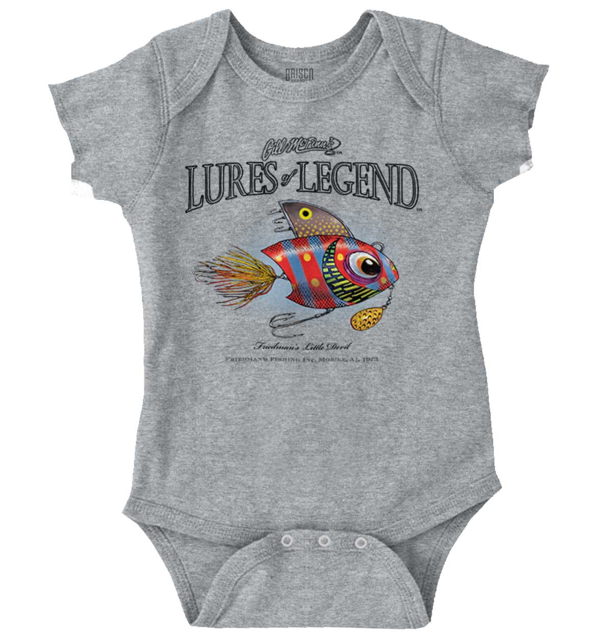 Little Devil Lures Fishing Cool Gill McFinn Sporting Good Gym Baby Gerber Onesie
