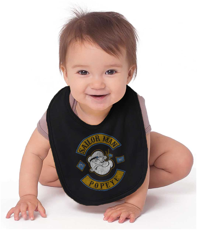Popeye The Sailor Man Vintage Nautical Cartoon Newborn Infant Bodysuits For Boys