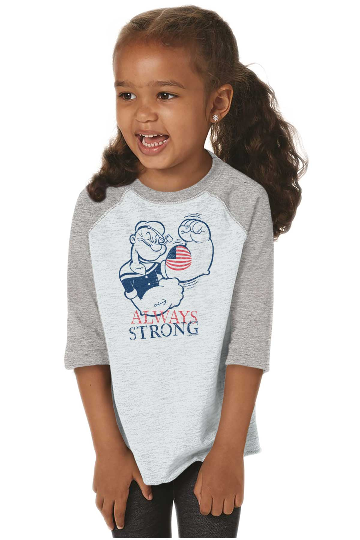 Always Strong Patriotic Popeye Sailor Funny Youth T-Shirt Tees Tshirt For Kids
